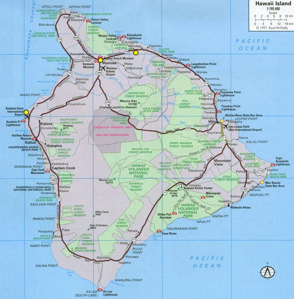 map of big island hawaii big island of hawaii maps map of big